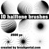 Halftone Brushes Set