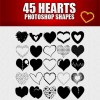 45 Heart Custom Shapes