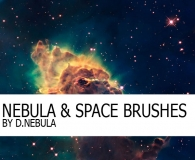 High Resolution Nebula Brushes Set
