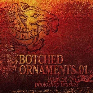 Botched Ornaments Brushes