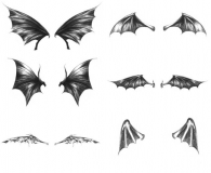 Free Set of Dark Wings Brushes