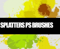 Painted Splatter Brushes
