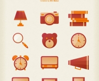Set of 12 Retro Icons