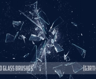 Photoshop Shattered Glass Brushes