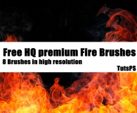 Premium Flames and Fire Brushes