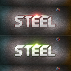 Steel text style