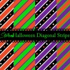 Halloween diagonal stripe patterns