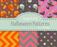 Joyful lovely halloween pattern