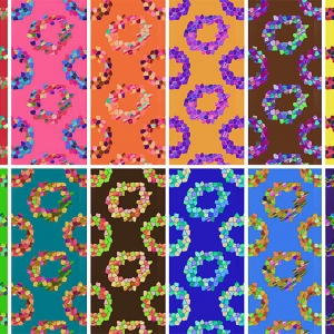 Mosaic rings patterns