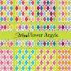 Argyle flower pattern