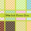 Soft flower polka dot