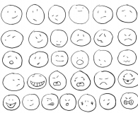 Emoticon hand drawn