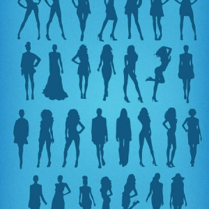Fashion silhouette model