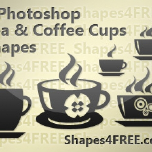 Prepossessing coffee and tea cup photoshop