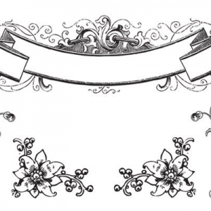 Scroll brushes and antique ornament