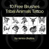 Tribal animals tattoo brushes