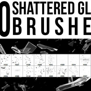 Shattered glass brushes