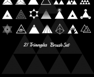 Triangle brushes