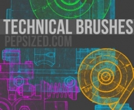 Free technical Ps brushes