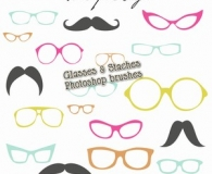 Moustaches and Glasses