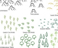 brushes for cartography
