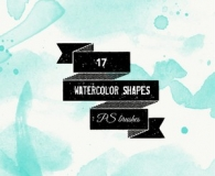 watercolor splash forms