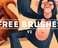 Stroke Brushes for Photoshop