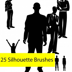 25 Man Silhouette PS Brushes