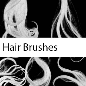 Set of Realistic Hair Brushes